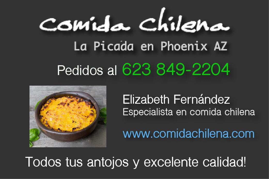 Comida Chilena en Phoenix AZ, Pedidos al 623 849 2204